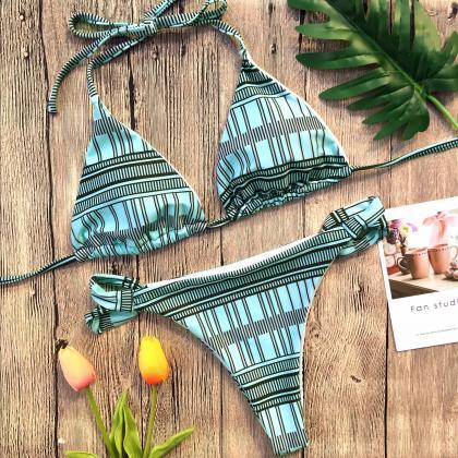 2018 Design Sexy Plaid Bikini Swims..