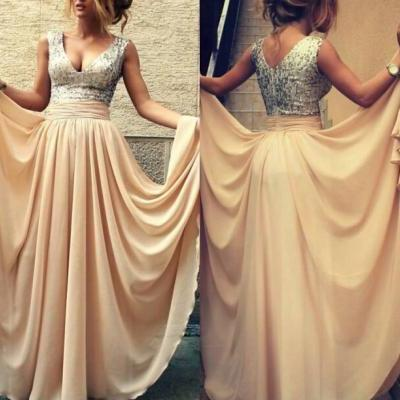 Sparkle Sequin Bridesmaid Prom Dress 2015 ,Champagne Mint Bridesmaid Dress,Prom Dresses,Champagne Sequin Evening Prom Dress 2015,Bridesmaid Dress Prom VG52201MN