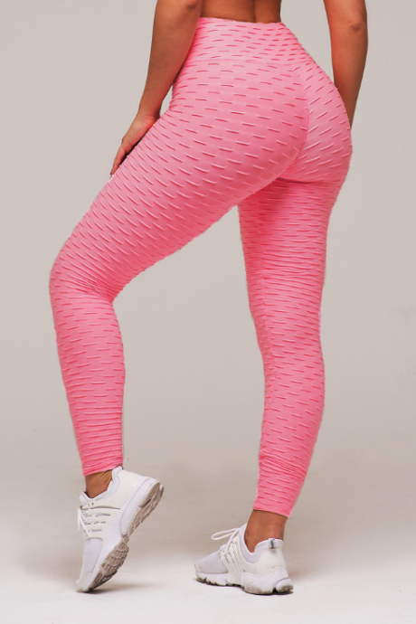 Fashion Solid Color Pink Sweatpants