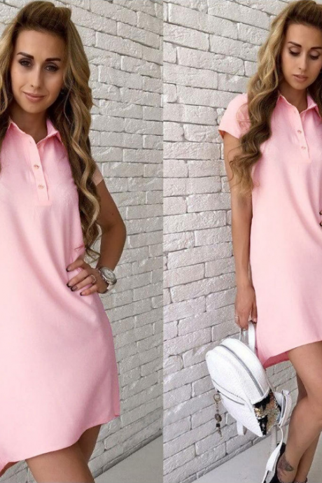 Sexy Button Pocket Dress
