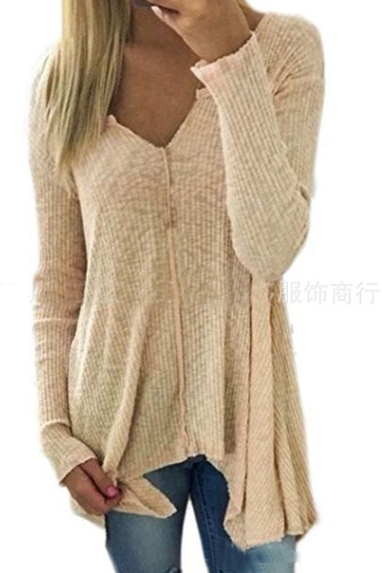 Sexy V-Neck Long Sleeve Sweater