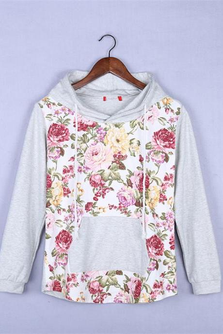 Loose long-sleeved printing sweater VG102602MN