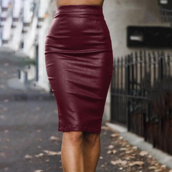 SEXY SOLID COLOR PACKAGE HIP SKIRTS