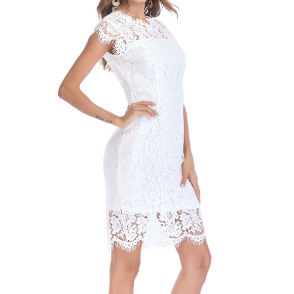 LACE SLIM SEXY SLEEVELESS DRESS