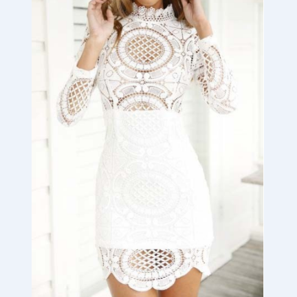New Slim lace long-sleeved dress VG6502MN